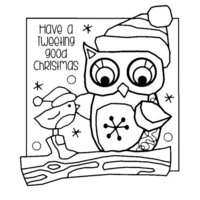 Creative Expressions - Woodware Clear Singles - Christmas - Clear Photopolymer Stamps - Tweeting Christmas