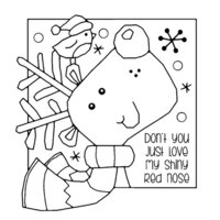 Creative Expressions - Woodware Clear Singles - Christmas - Clear Photopolymer Stamps - Shiny Nose