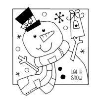 Creative Expressions - Woodware Clear Singles - Christmas - Clear Photopolymer Stamps - Jolly Snowman