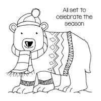 Creative Expressions - Woodware Clear Singles - Christmas - Clear Photopolymer Stamps - Seasonal Bear