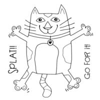Creative Expressions - Woodware Clear Singles - Clear Photopolymer Stamps - Splat Cat