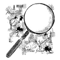 Creative Expressions - Woodware Clear Singles - Clear Photopolymer Stamps - Magnifying Glass