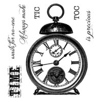 Creative Expressions - Woodware Clear Singles - Clear Photopolymer Stamps - Tic Toc