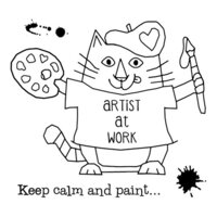 Creative Expressions - Woodware Clear Singles - Clear Photopolymer Stamps - Van Cat