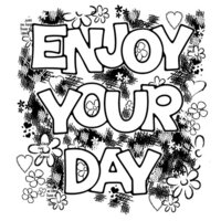 Creative Expressions - Woodware Clear Singles - Clear Photopolymer Stamps - Enjoy Your Day