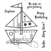 Creative Expressions - Woodware Clear Singles - Clear Photopolymer Stamps - Sailboat