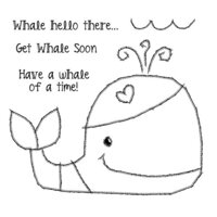 Creative Expressions - Woodware Clear Singles - Clear Photopolymer Stamps - Whale Hello