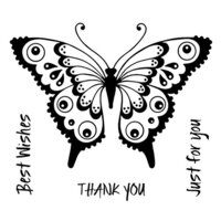 Creative Expressions - Woodware Clear Singles - Clear Photopolymer Stamps - Pretty Flutterby