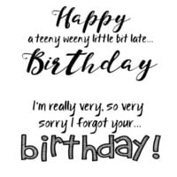 Creative Expressions - Woodware Clear Singles - Clear Photopolymer Stamps - Belated Birthday