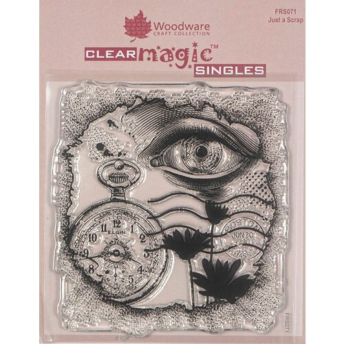 Creative Expressions - Woodware - Clear Acrylic Stamps - Singles - Just a Scrap