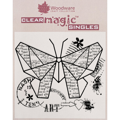 Creative Expressions - Woodware - Clear Acrylic Stamps - Paper Butterfly