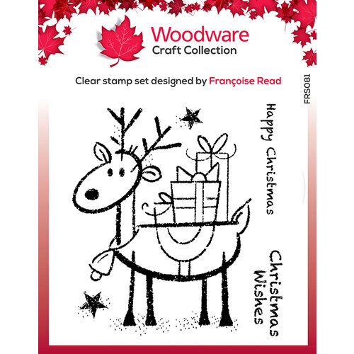Creative Expressions - Woodware - Christmas - Clear Acrylic Stamps - Singles - Rudolph Pressies