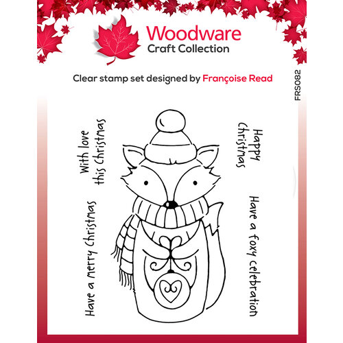Creative Expressions - Woodware - Clear Acrylic Stamps - Singles - Foxy Christmas
