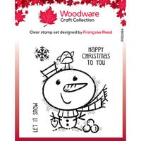 Creative Expressions - Woodware Clear Singles - Clear Photopolymer Stamps - Christmas - Little Snowman