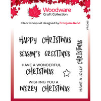 Creative Expressions - Woodware Clear Singles - Clear Photopolymer Stamps - Christmas - Useful Christmas