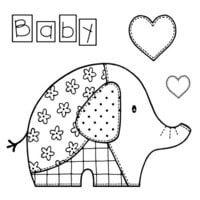 Creative Expressions - Woodware Craft Collection - Clear Photopolymer Stamps - Baby Patch Elephant