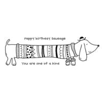 Creative Expressions - Woodware Clear Singles - Clear Photopolymer Stamps - Sausage Dog