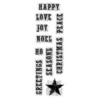 Creative Expressions - Woodware Clear Singles - Christmas - Clear Photopolymer Stamps - Vintage Christmas Words
