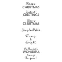 Creative Expressions - Woodware Clear Singles - Christmas - Clear Photopolymer Stamps - Christmas Cheer