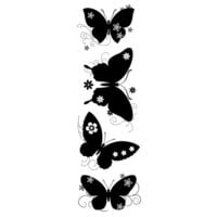 Creative Expressions - Woodware Clear Singles - Clear Photopolymer Stamps - Butterfly Silhouettes