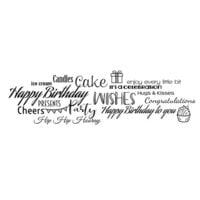Creative Expressions - Woodware Clear Singles - Clear Photopolymer Stamps - All About Birthdays