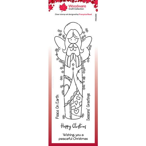 Creative Expressions - Woodware - Christmas - Clear Acrylic Stamps - Singles - Patch Angel
