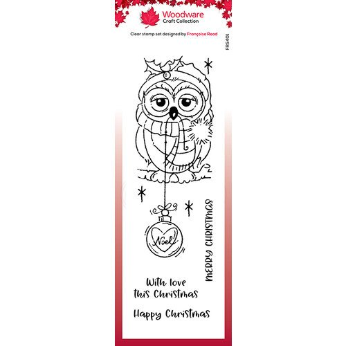 Creative Expressions - Woodware - Christmas - Clear Acrylic Stamps - Singles - Bauble Owl