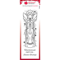 Creative Expressions - Woodware - Clear Acrylic Stamps - Singles - Celestial Angel
