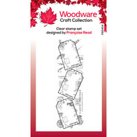 Creative Expressions - Woodware - Clear Acrylic Stamps - Singles - Three Tags