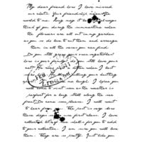 Creative Expressions - Woodware Clear Singles - Clear Photopolymer Stamps - Old Letter