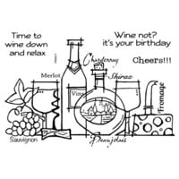 Creative Expressions - Woodware Clear Singles - Clear Photopolymer Stamps - Time To Wine Down