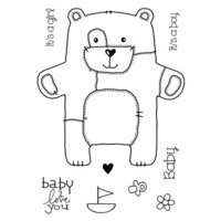 Creative Expressions - Woodware Craft Collection - Clear Photopolymer Stamps - Baby Patch Bear