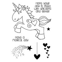 Creative Expressions - Woodware Clear Singles - Clear Photopolymer Stamps - Unicorn