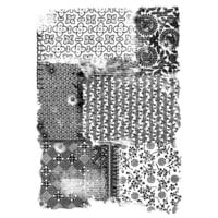 Creative Expressions - Woodware - Clear Photopolymer Stamps - Singles - Vintage Fabric