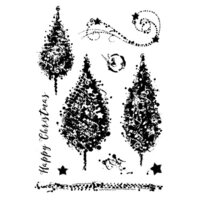 Creative Expressions - Woodware Clear Singles - Christmas - Clear Photopolymer Stamps - Sparkly Trees