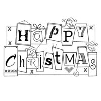 Creative Expressions - Woodware Clear Singles - Christmas - Clear Photopolymer Stamps - Robin Stitch Up