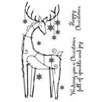 Creative Expressions - Woodware Clear Singles - Christmas - Clear Photopolymer Stamps - Snowflake Reindeer