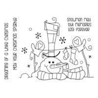 Creative Expressions - Woodware Clear Singles - Christmas - Clear Photopolymer Stamps - Top Hat Snowman