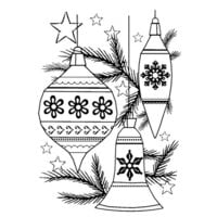 Creative Expressions - Woodware Clear Singles - Christmas - Clear Photopolymer Stamps - Classic Baubles