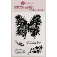 Creative Expressions - Woodware Clear Singles - Clear Photopolymer Stamps - Butterfly Sparkle