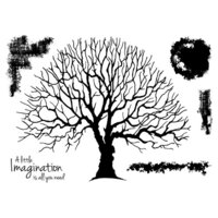 Creative Expressions - Woodware Clear Singles - Clear Photopolymer Stamps - Old Oak Tree