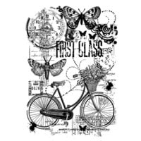Creative Expressions - Woodware - Clear Photopolymer Stamps - Singles - Bicycle Collage