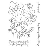 Creative Expressions - Woodware Clear Singles - Clear Photopolymer Stamps - Summer Meadow