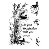 Creative Expressions - Woodware Clear Singles - Clear Photopolymer Stamps - Sparkly Grasses
