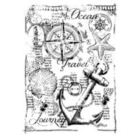 Creative Expressions - Woodware - Clear Photopolymer Stamps - Singles - Nautical Collage