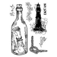 Creative Expressions - Woodware Clear Singles - Clear Photopolymer Stamps - Message In A Bottle
