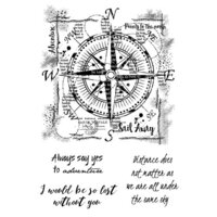 Creative Expressions - Woodware Clear Singles - Clear Photopolymer Stamps - Compass