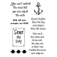 Creative Expressions - Woodware Clear Singles - Clear Photopolymer Stamps - Nautical Sayings