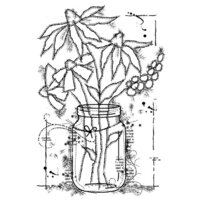 Creative Expressions - Woodware Clear Singles - Clear Photopolymer Stamps - Flowers In A Jar