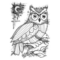 Creative Expressions - Woodware Clear Singles - Clear Photopolymer Stamps - Midnight Owl